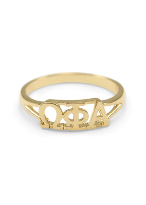 Ring - Omega Phi Alpha Sunshine Gold Plated Ring