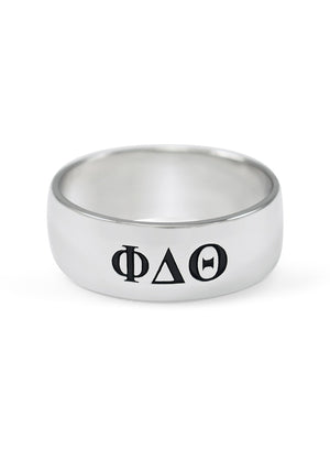 Ring - Phi Delta Theta Sterling Silver Wide Band Ring