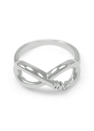 Ring - Phi Mu Sterling Silver Infinity Ring