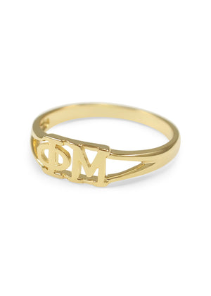 Ring - Phi Mu Sunshine Gold Ring