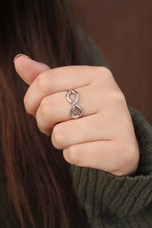 Ring - Phi Sigma Sigma Sterling Silver Infinity Ring