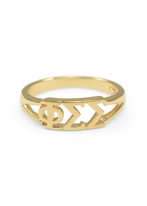 Ring - Phi Sigma Sigma Sunshine Gold Ring