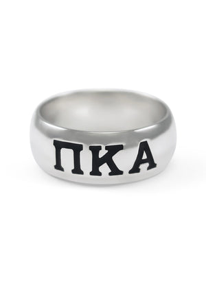 Ring - Pi Kappa Alpha Sterling Silver Wide Band Ring