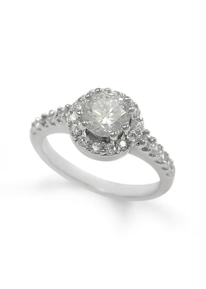 Ring - Romantic Juliet Ring With Simulated Diamonds
