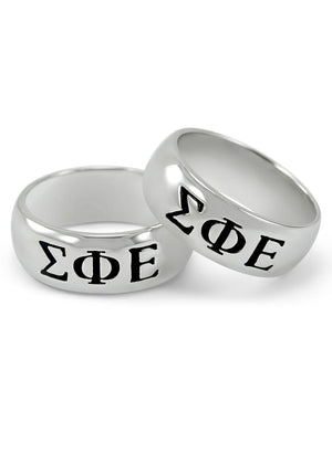 Ring - Sigma Phi Epsilon Sterling Silver Wide Band Ring