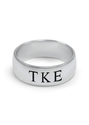 Ring - Tau Kappa Epsilon Sterling Silver Wide Band Ring