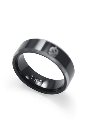 Ring - Tau Kappa Epsilon (TKE) Black Tungsten Ring