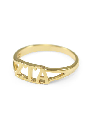 Ring - Zeta Tau Alpha Sunshine Gold Ring