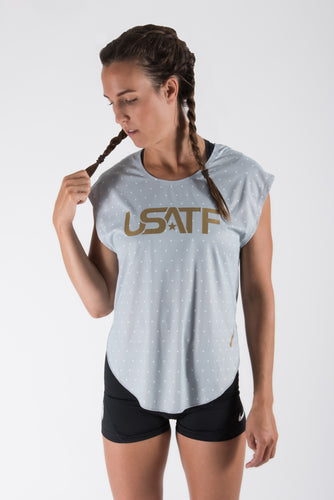 Nike USATF Women's Star Print City Sleek Tee