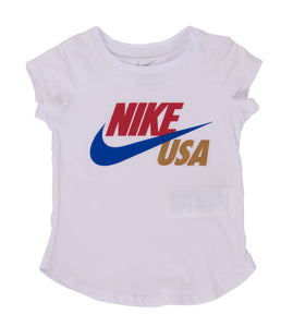 Nike USATF Toddler/Little Girls' USA Swoosh Tee