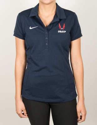 Nike USATF Women's Dri-FIT Federation Polo - Navy
