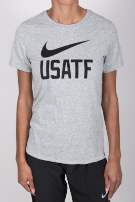 Nike USATF Women's Dri-FIT Cotton Swoosh Tee