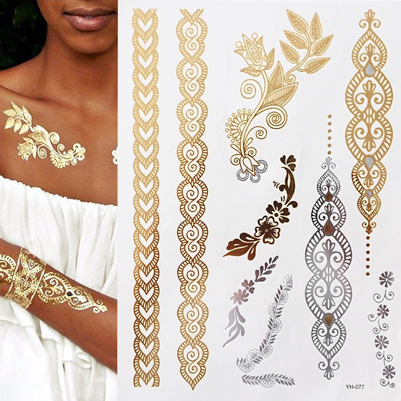 Shimmering Jewelry Temporary Tattoos