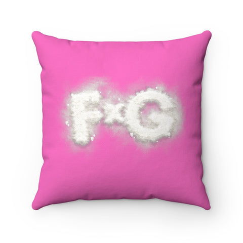 "FishXGrits Pink ""Fishscale"" Pillow"