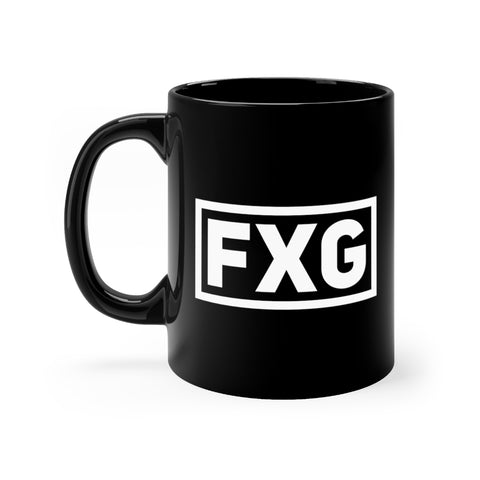 FXG Stamped Black mug 11oz