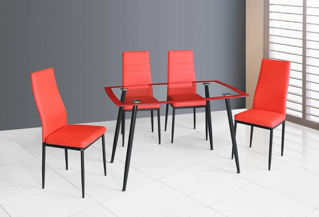 D341-RD 5PC DINING SET