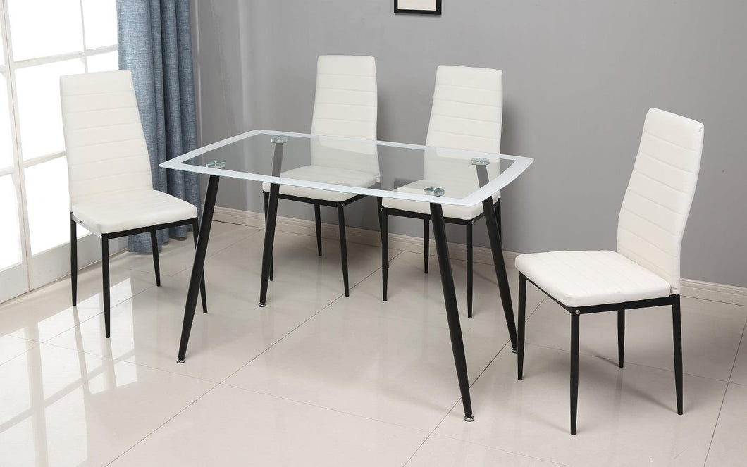 D342- WH 5PC DINING SET