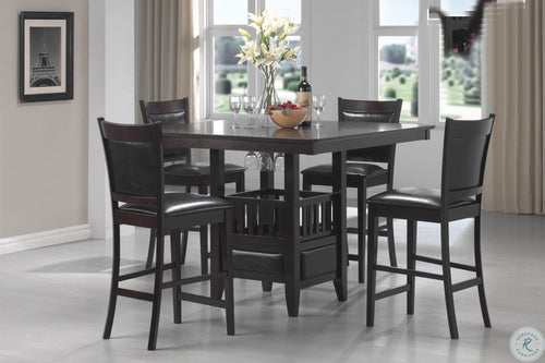 Jaden Square Counter Height Dining Table With Center Storage Cabinet