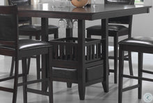Load image into Gallery viewer, Jaden Square Counter Height Dining Table With Center Storage Cabinet