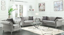 Load image into Gallery viewer, Frostine Silver Living Room Set