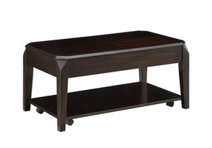 Lift Top Coffee Table with Hidden Storage Walnut