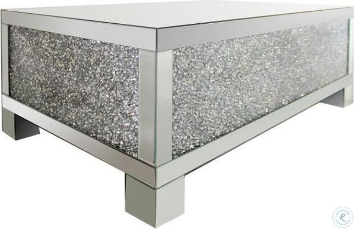 RECTANGULAR COFFEE TABLE ALL MIRROR