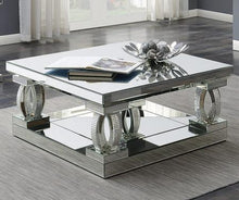 Load image into Gallery viewer, Avonlea Square Coffee Table with Lower Shelf Clear Mirror