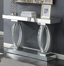 Load image into Gallery viewer, Rectangular Sofa Table with Shelf Clear Mirror