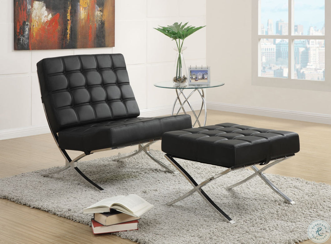 Black/Chrome Accent Chair