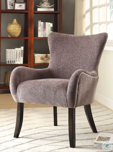 902504 Upholstered Grey Accent Chair