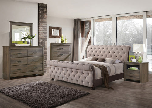 B111- QUEEN UPHOLSTERED BED