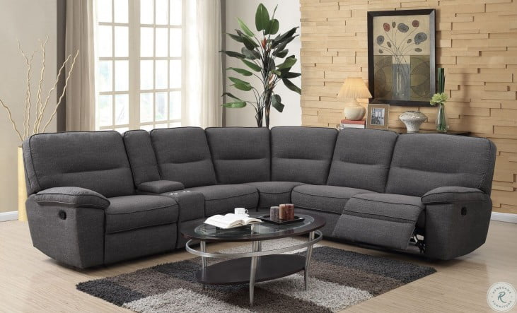 Alberta Charcoal Reclining Sectional