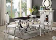 Load image into Gallery viewer, Antoine 6pc Chrome Dining Room Set