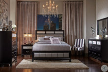 Load image into Gallery viewer, Barzini 5pc  Black Bedroom Group