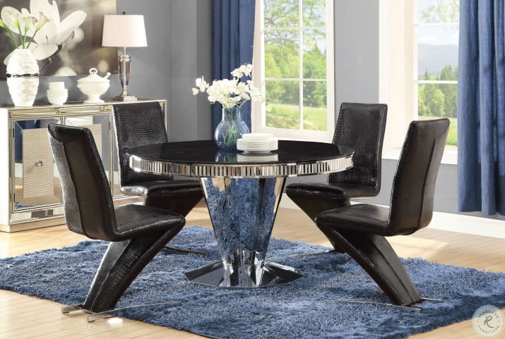 Barzini 5pc Stainless Steel Dining Room Set