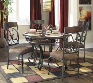 Glambrey Round Dining Room Set