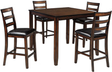 Load image into Gallery viewer, Coviar Brown 5 Piece Counter Height Dining Room Set