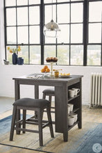 Load image into Gallery viewer, Caitbrook Gray 3 Piece Counter Height Dining Room Set