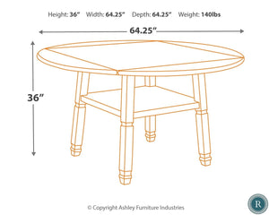 Bolanburg Two-tone Round Counter Height Dining Room Set