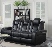 Load image into Gallery viewer, Delangelo 2pc Motion Black Power Motion Living Room Set