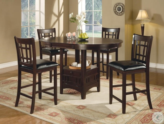 Lavon 5pc Cappuccino Counter Height Dining Room Set