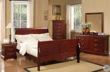 Load image into Gallery viewer, Louis Philippe II Queen 5pc Cherry Sleigh Bedroom Set