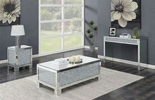 Load image into Gallery viewer, Layton Rectangular Sofa Table Silver and Clear Mirror