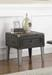 1-drawer End Table Grey and Antique Silver
