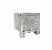 Load image into Gallery viewer, Layton Square End Table Silver and Clear Mirror