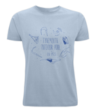 SWIMMERS TEE - BLUE DESIGN