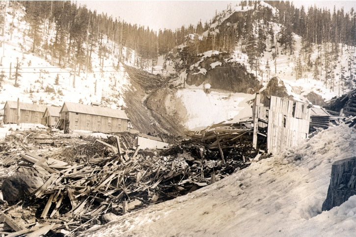 March 22, 1915, a tragic rock and snow slide wiped out the upper Jane Basin camp. Fifty six men, women and children lost their lives that night. For the survivors, it took hours to summon help.