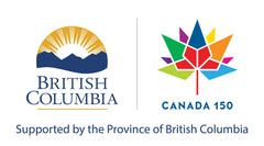 Canada 150 and Province of BC Logos
