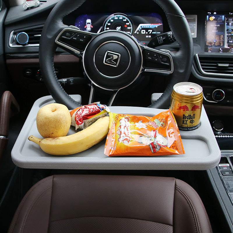 Multifunction Car Steering Wheel Plastic Tray Desk Organizer