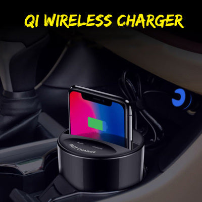 Car Phone Holder - Wireless Charger for iPhone and Samsung